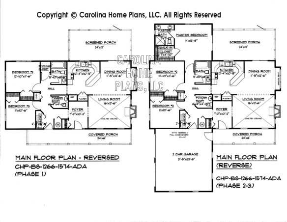 BS-1266-1574 Reverse Main Floor  Plan