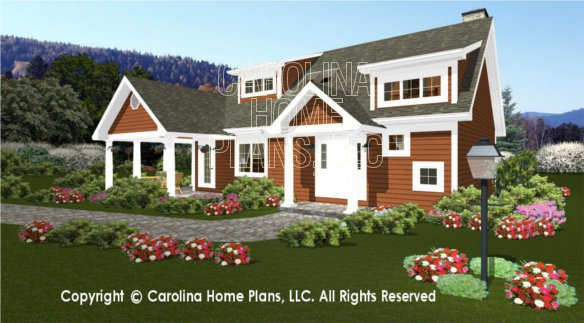 3D Images For CHP-BS-1613-2621-AD | Expandable 2 Story 3D House Plan ...