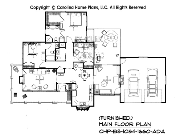 BS-1084-1660-AD Furnished Main Floor Plan