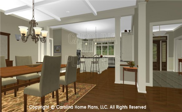 BS-1477-2715 3D Dining to Kitchen, Foyer