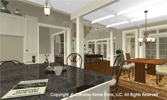 BS-1477-2715 3D Kitchen Counter to Great Room