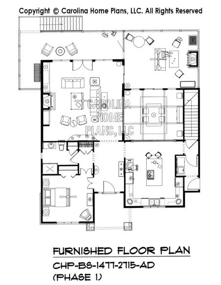 BS-1477-2715-AD Furnished Main Floor Plan (Phase 1)