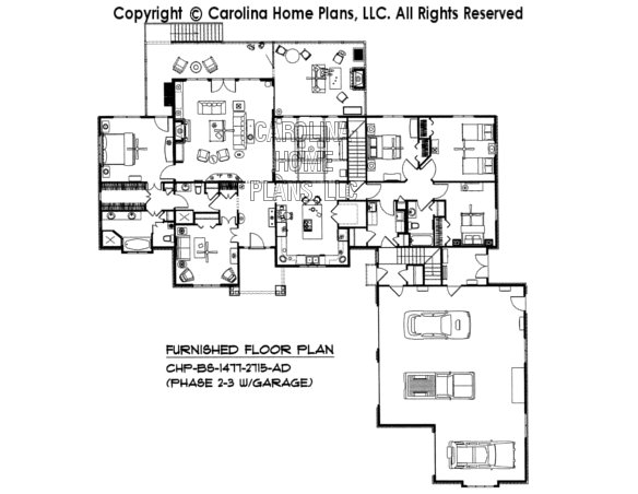BS-1477-2715-AD Furnished Main Floor Plan (Phase 2-3)