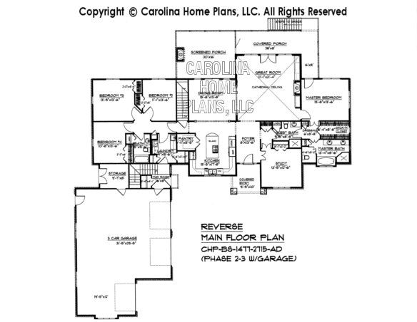 BS-1477-2715 Reverse Floor Plan (Phase 2-3)