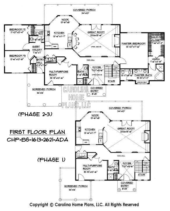 BS 1613 2621 First Floor Plans