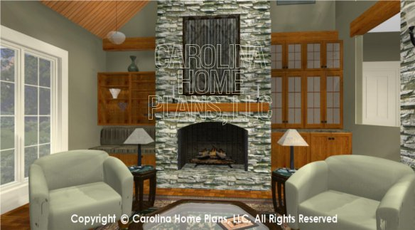 BS-1613-2621 3D Great Room To Fireplace