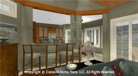 BS-1613-2621 3D Kitchen Lunch Counter, Bar