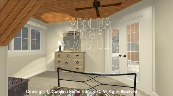 BS-1613-2621 3D Sleeping Loft to French Doors