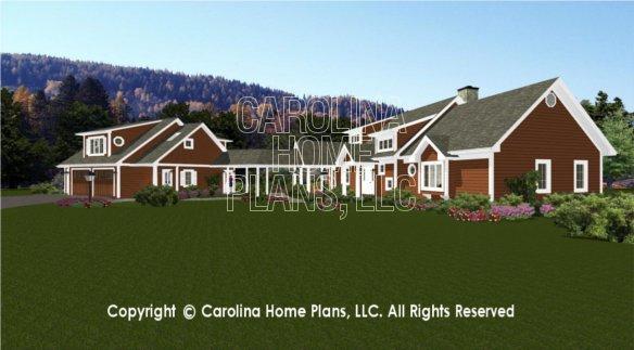 BS-1613-2621 and GAR-841 3D Garage & House View