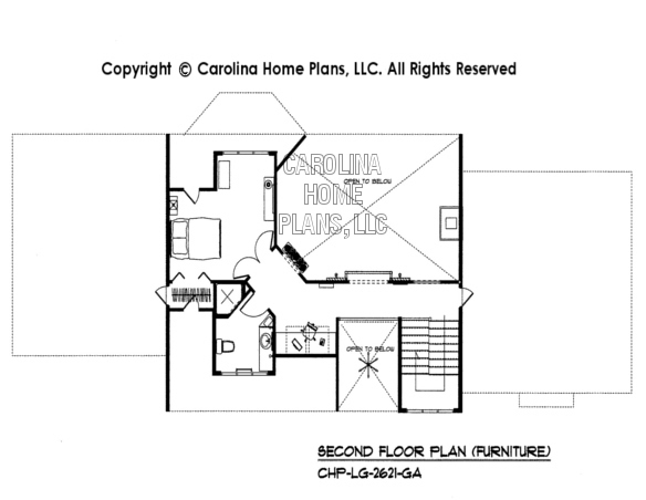 BS-1613-2621-AD Furnished 2nd Floor Plan