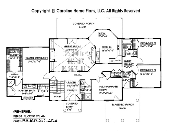 BS-1613-2621 Reverse First Floor  Plan