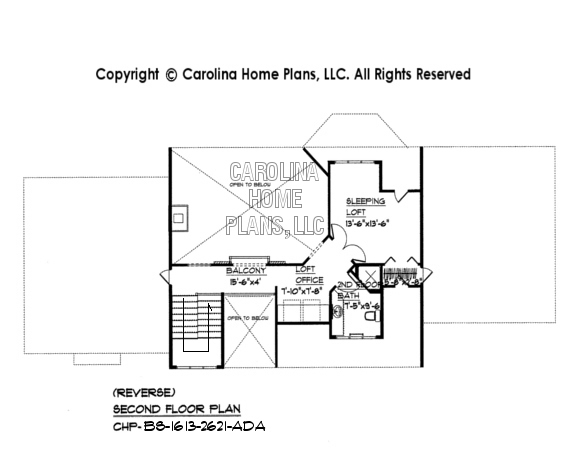 BS-1613-2621 2nd Floor Plan - reverse