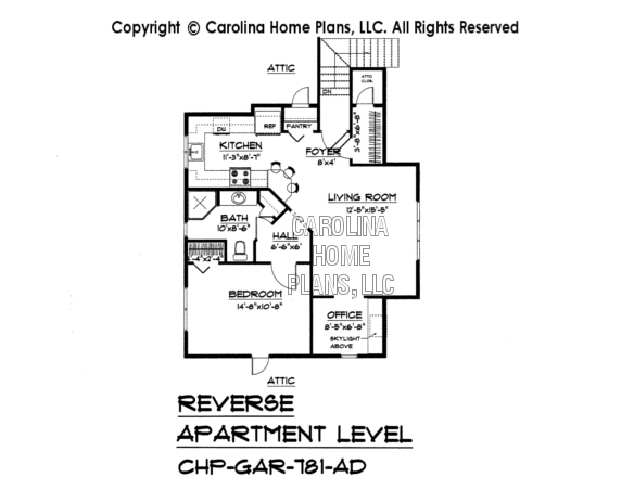 BS-1477-2715 Reverse Apartment Floor Plan