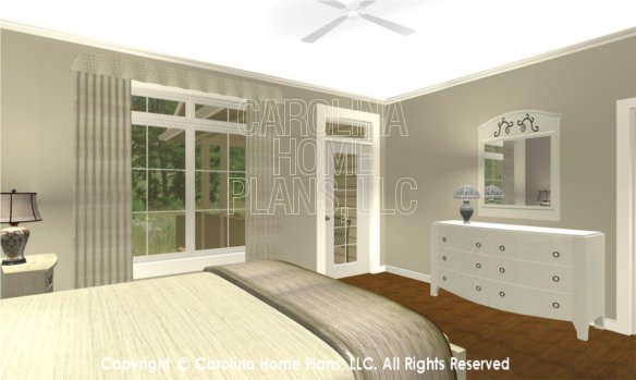 BS-1477-2715 3D Master Bedroom to Porch