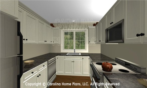 BS-1477-2715 3D Apartment Kitchen