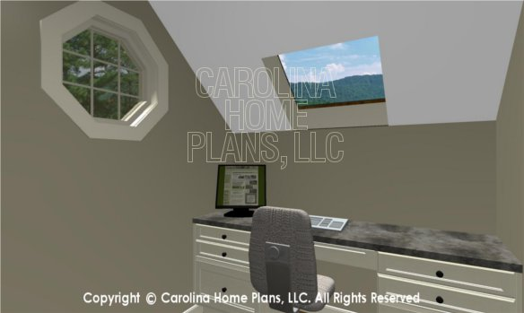 BS-1477-2715 3D Apartment Office to Skylight