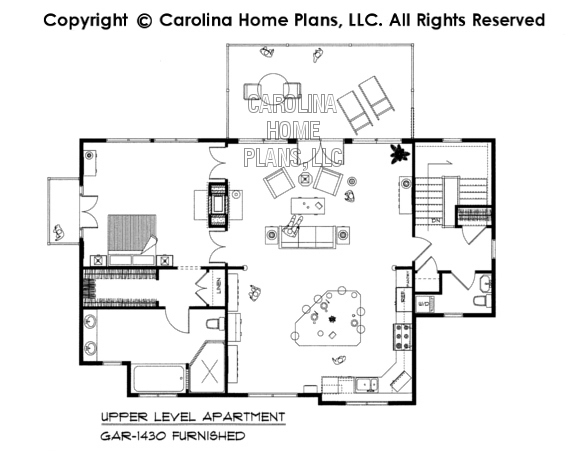 GAR-1430-AD Furnished Apartment Floor Plan