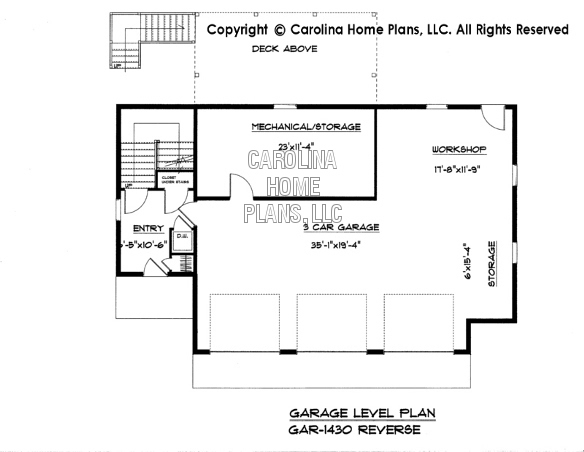 Garage 1280 lower floor plan omahdesigns net for Garage plans with apartment one level