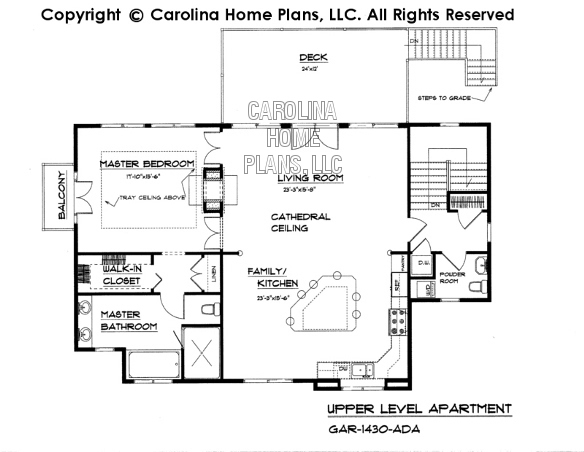 GAR-1430 Upper Level Apartment Plan