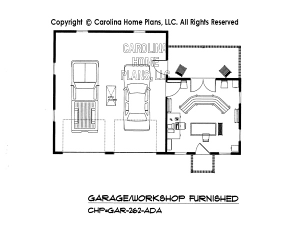 GAR-262-AD Furnished Garage-Workshop Plan