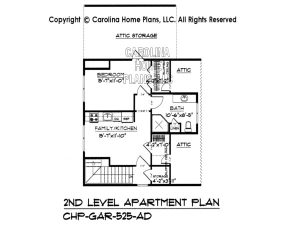 GAR-525 Upper Level Apartment Plan