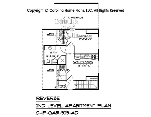 GAR-525 Reverse Upper Level Apartment Plan