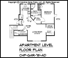 Craftsman Garage Apartment Plan Gar Ad Sq Ft Small Budget