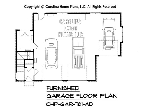 GAR-781-AD Furnished Garage Level Plan