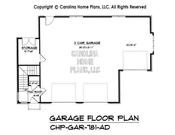 GAR 781 Lower Level Garage Plan. Craftsman Garage Apartment Plan GAR 781 AD Sq Ft   Small Budget