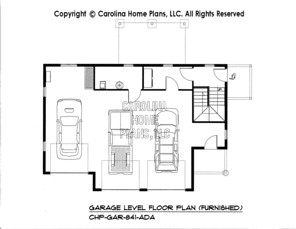 Apartment garage floor plans kitchen cabinet home plan for Garage apartment plans with kitchen