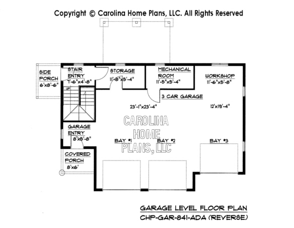 Low Cost GarageApartment Plan GAR841AD Sq Ft – Elevated Garage Plans