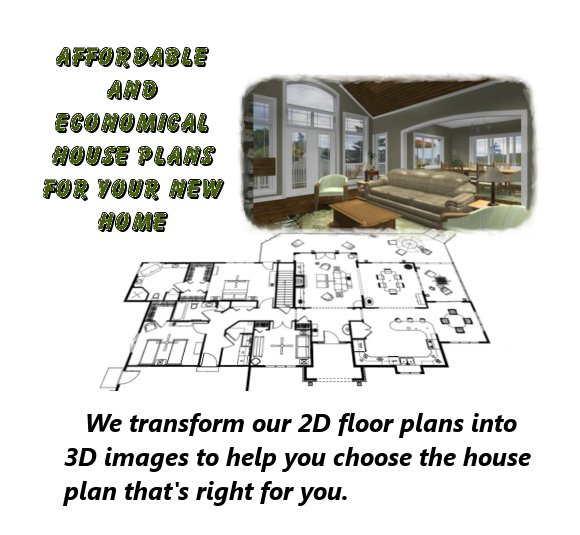 Home House Plans 3d Logo