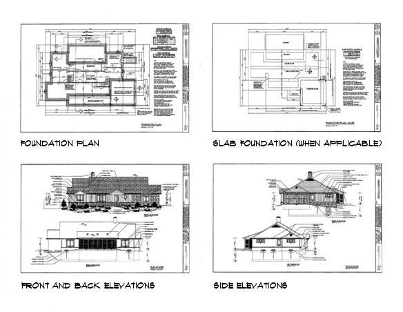house plan sample drawings 1 - Sample House Plans