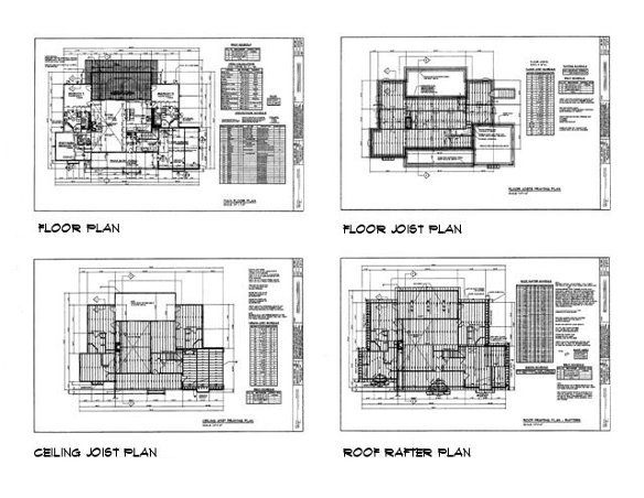 About our plans detailed building plan and home construction plan packages - Home design sheets ...