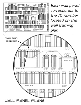 House plan panel detail