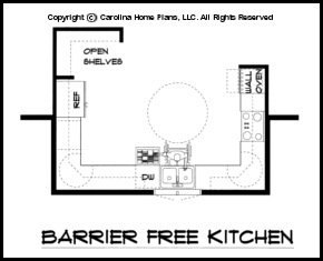Aging in place house plans structural features for a new Barrier free house plans