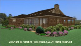 BS-1275-1595 Narrow Lot House plan