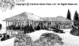 SG-2880 Sloped Lot Houseplan