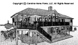 CR-3191 Sloped Lot Houseplan