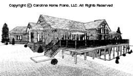 CRFT-2953 Sloped Lot Houseplan