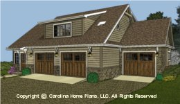 GAR-781 Garage-Apartment Plan  Sq Ft