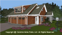 GAR-841 Garage-Apartment Plan  Sq Ft