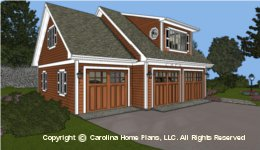 GAR-841 Low  Cost Garage-Apartment Plan