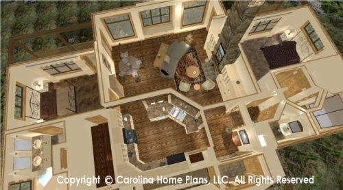 LG-2810 Split Bedroom House Plan