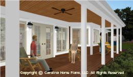 LG-2621 Large Porch House  Plan