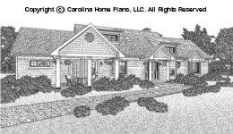 LG-2621 Sloped Lot Houseplan