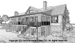 LG-2715 Sloped Lot Houseplan