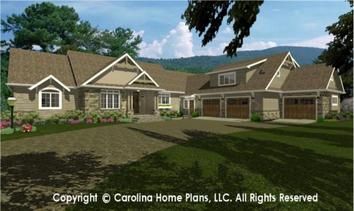 LG-2715 Sophisticated Rustic House Plan