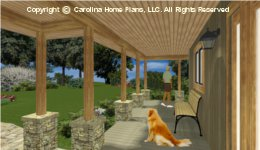 LG-3096 Wrap-around Porch House 