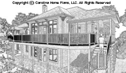 LG-3096 Sloped Lot Houseplan